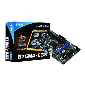 MSI 微星 B75MA-E33/B75/1155 主機板