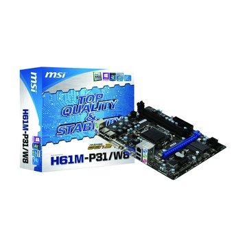 MSI 微星H61M-P31/W8/H61/1155 主機板