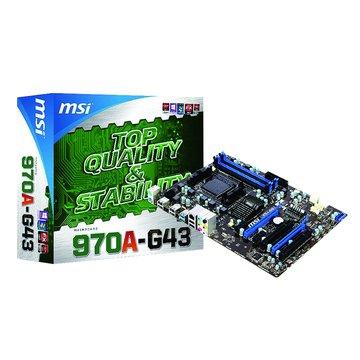 MSI 微星 970A-G43/AMD970/AM3+ 主機板