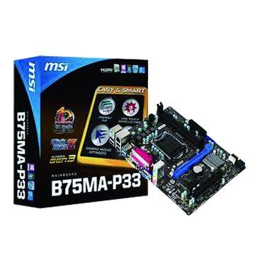 MSI 微星 B75MA-P33/B75 主機板