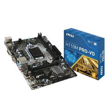 MSI 微星H110M PRO-VD/Intel/1151主機板