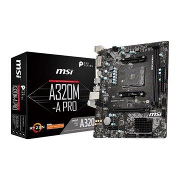 MSI 微星A320M-A PRO (Micro ATX AMD AM4)主機板