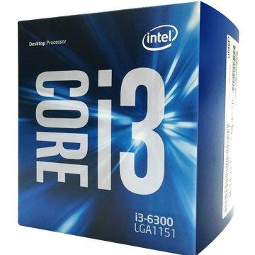 INTEL 英代爾Core I3-6300/3.8G/雙核心/1151