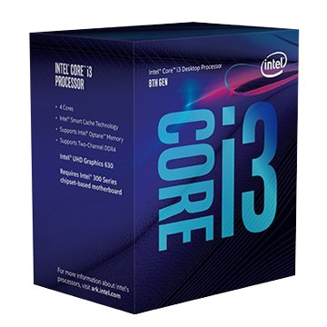 INTEL Core i3-8100/3.6GHz /四核/LGA1151公司貨