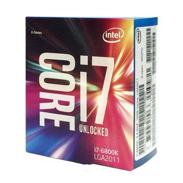 INTEL 英代爾 Core i7-6850K/3.6G/六核/2011無風扇