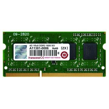 Transcend 創見 DDR3 1600 4G JETRAM SO-DIMM NB用(新)