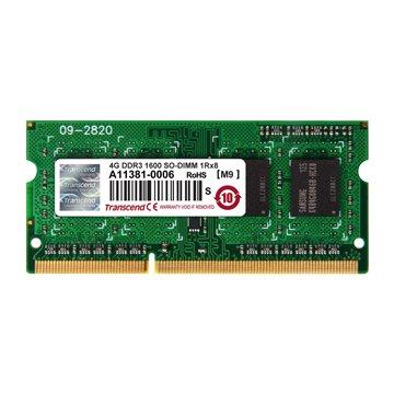 Transcend 創見 DDR3 1600 4G SO-DIMM NB用(單面)