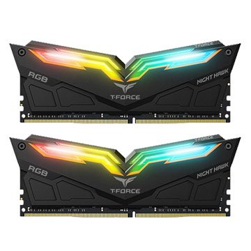 team Night Hawk RGB DDR4 3000 16G(8G*2)-炫光(黑)