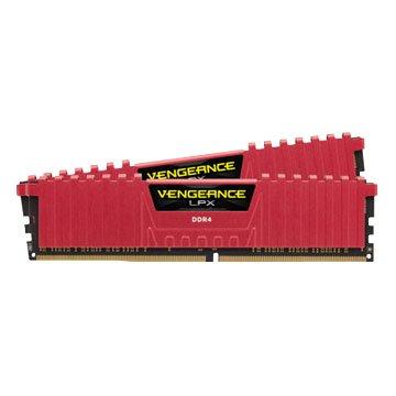 CORSAIR 海盜船 LPX DDR4 2666 16G(8G*2)PC用(紅) 客訂品