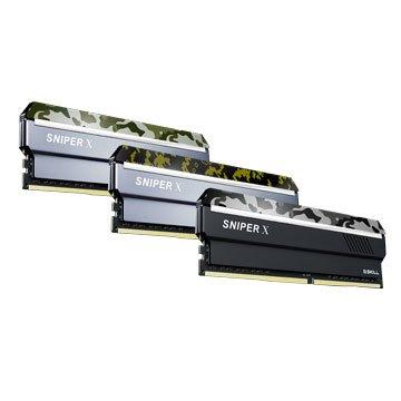 G.SKILL 芝奇 Sniper X DDR4 2400 16G(8G*2)PC用-數碼黃