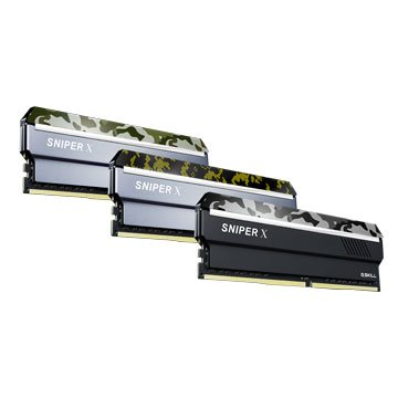 G.SKILL 芝奇 Sniper X DDR4 2400 16G(8G*2)PC用-蟒林綠