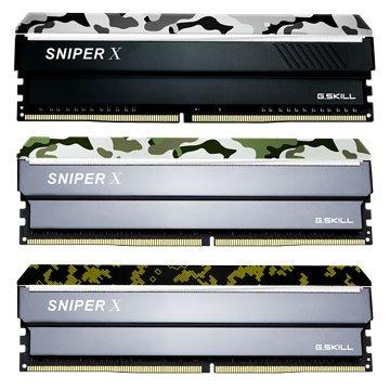 G.SKILL 芝奇 Sniper X DDR4 3000 16G(8G*2)PC用-數碼黃