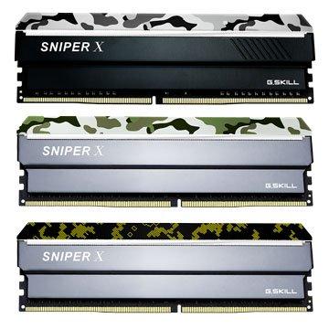 G.SKILL 芝奇 Sniper X DDR4 3000 16G(8G*2)PC用-蟒林綠
