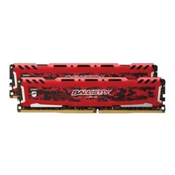 Micron 美光Ballistix Sport LT版 DDR4 3200 16G(8G*2)電競記憶體(紅色)