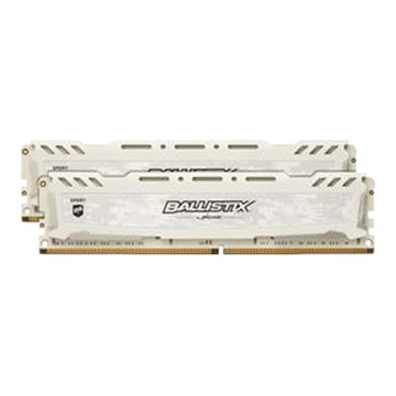 美光 Ballistix Sport LT D4 3200 32G(16G*2)電競記憶體(白色)