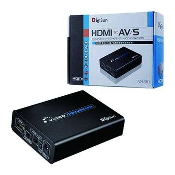 DigiSun 得揚VH581 HDMI轉AV/S影音訊號轉換器