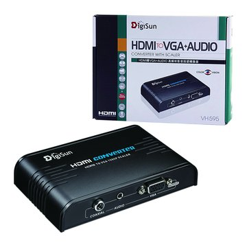 DigiSun VH595 HDMI轉VGA+AUDIO影音轉換器