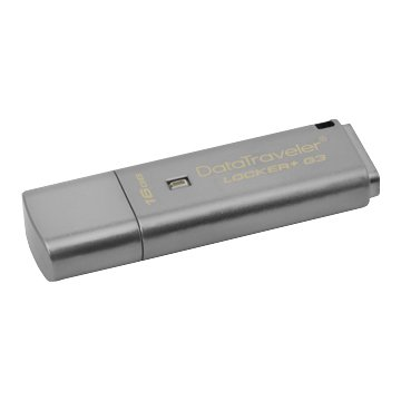 Kingston 金士頓DataTraveler Locker+ G3 16G USB3.0 隨身碟-銀