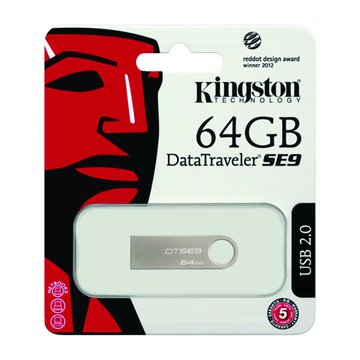 Kingston 金士頓DataTraveler SE9 64GB  隨身碟-銀