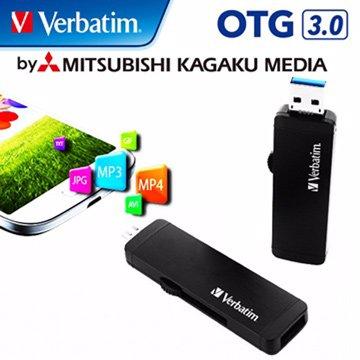 Verbatim 威寶64GB USB3.0 micro USB OTG  隨身碟-黑