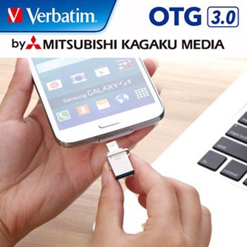 Verbatim 威寶Micro 64GB USB3.0 micro USB OTG  隨身碟-銀