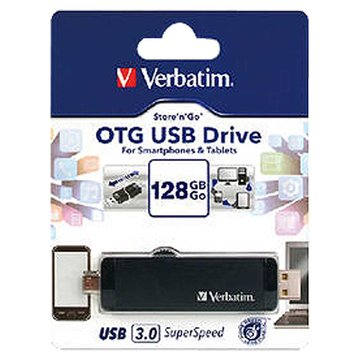 Verbatim 威寶 128GB USB3.0 micro USB OTG 隨身碟-黑