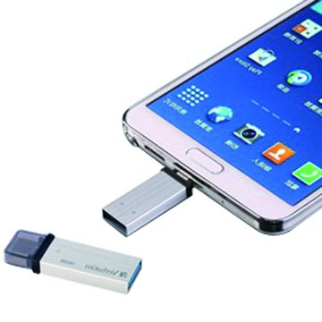 Verbatim 威寶64GB USB3.0 micro USB OTG  隨身碟-銀
