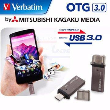 Verbatim 威寶32GB USB3.0 micro USB OTG  隨身碟-灰
