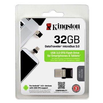 Kingston 金士頓DataTraveler microDuo  32GB USB3.0   隨身碟-黑