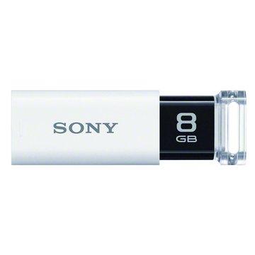SONY 新力牌 Micro Vault Click 8GB USB3.0  隨身碟-白
