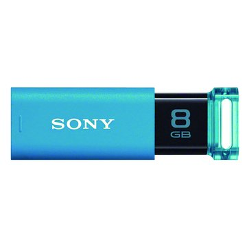 SONY 新力牌 Micro Vault Click 8GB USB3.0  隨身碟-水藍