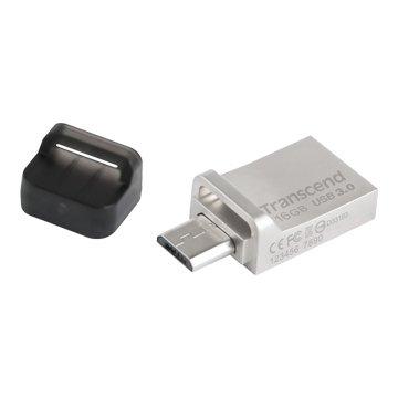 Transcend 創見JetFlash 880 16GB USB3.0 micro USB OTG  隨身碟-銀