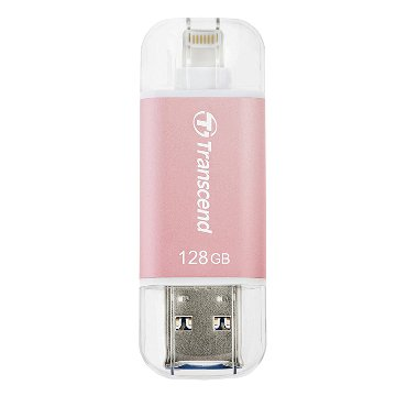 Transcend JetDrive Go 300 128GB USB3.1 Apple ios OTG  隨身碟-玫瑰金