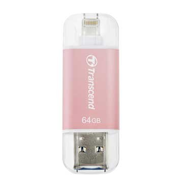 Transcend JetDrive Go 300 64GB USB3.1 Apple ios OTG  隨身碟-玫瑰金