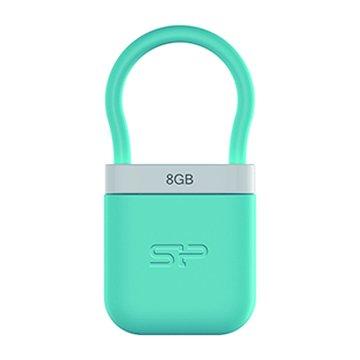 SILICON POWER Unique 510 8GB 隨身碟-粉藍