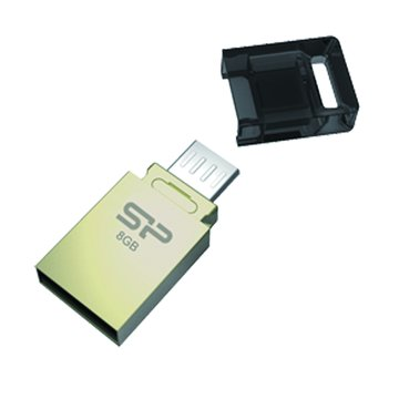 SILICON POWER Mobile X10 8GB micro USB OTG 隨身碟-金