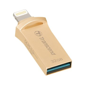 Transcend JetDrive Go 500 32GB USB3.1 Apple ios OTG  隨身碟-金