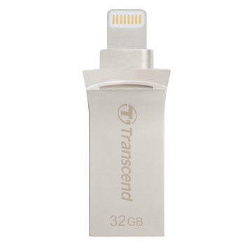 Transcend JetDrive Go 500 32GB USB3.1 Apple ios OTG  隨身碟-銀