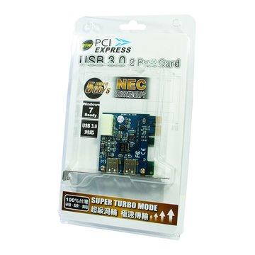 伽利略 PTU302A 2埠USB3.0擴充卡PCI-E