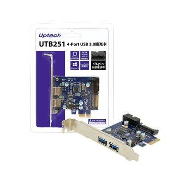 Uptech UTB251 4埠USB3.0擴充卡PCI-e