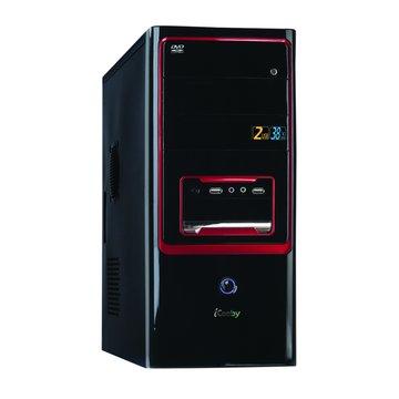 iCooby 1811BR 4大/黑紅 電腦機殼(福利品出清)