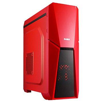 SAMA 先馬雅典戰士 / 1大 / 紅 電腦機殼(福利品出清)