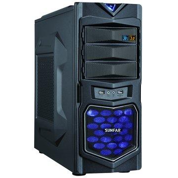 SUNFAR 順發1619B 3大/黑 電腦機殼