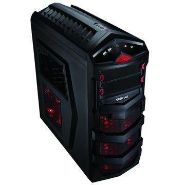 SUNFAR 順發7625B 2大7小/ 黑 電腦機殼