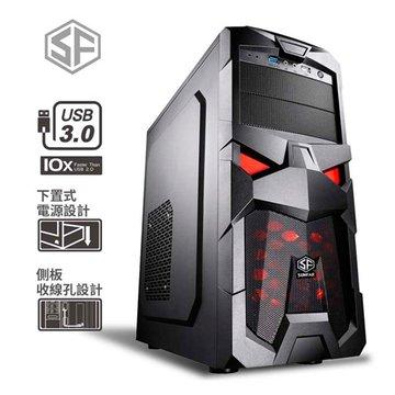 SUNFAR 順發6006B 2大3小/黑 電腦機殼
