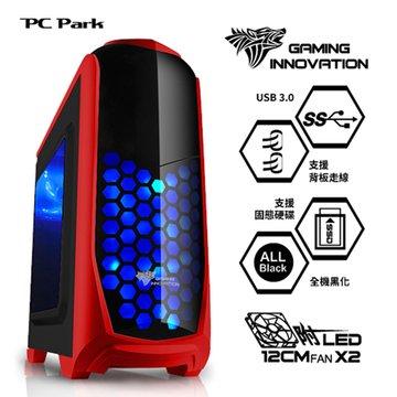 PC Park 8231R 2大3小/魔影紅 電腦機殼