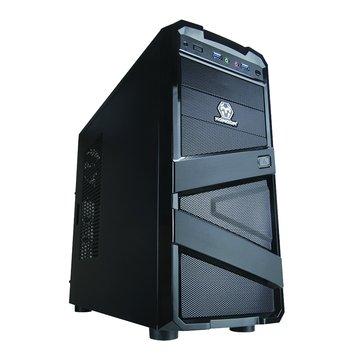 iCute 西華 冰鋒戰士/2大4小/黑 電腦機殼(福利品出清)
