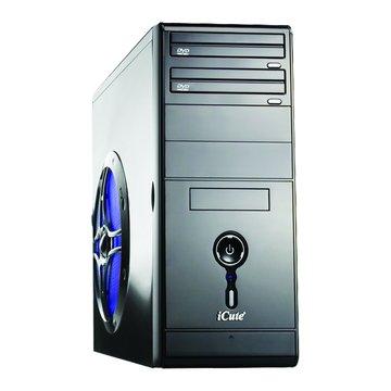 iCute 西華 水天使 4大/黑色/5G側板 電腦機殼(福利品出清)