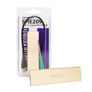 Uptech  EHE209 USB 3.1 Type-C M.2外接盒