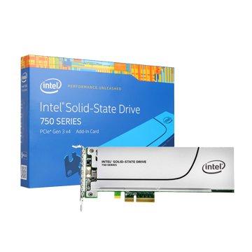 INTEL 英代爾 750 400G PCI-E SSD彩盒版-5年